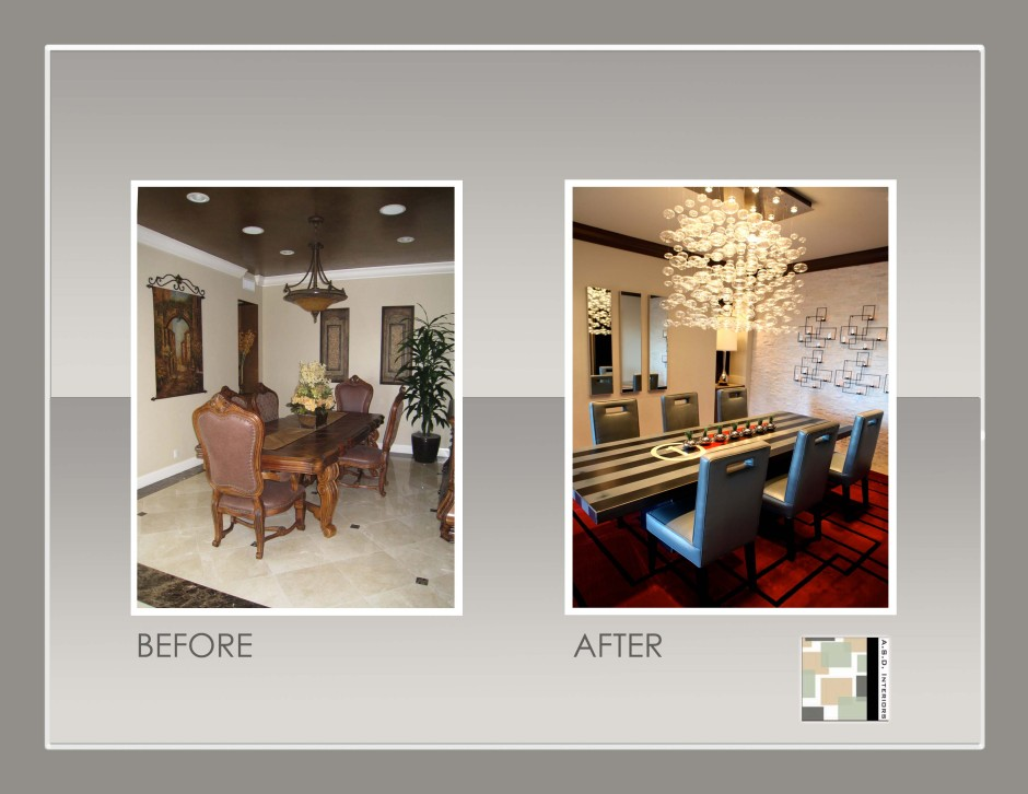 Dining Room Remodel, Contemporary dining room, dining room before and ...