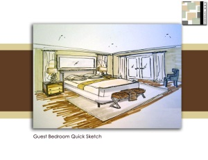 Guest bedroom quick free hand sketch
