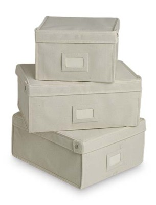 Perfect The Container Storeu0027s Natural Canvas Boxes