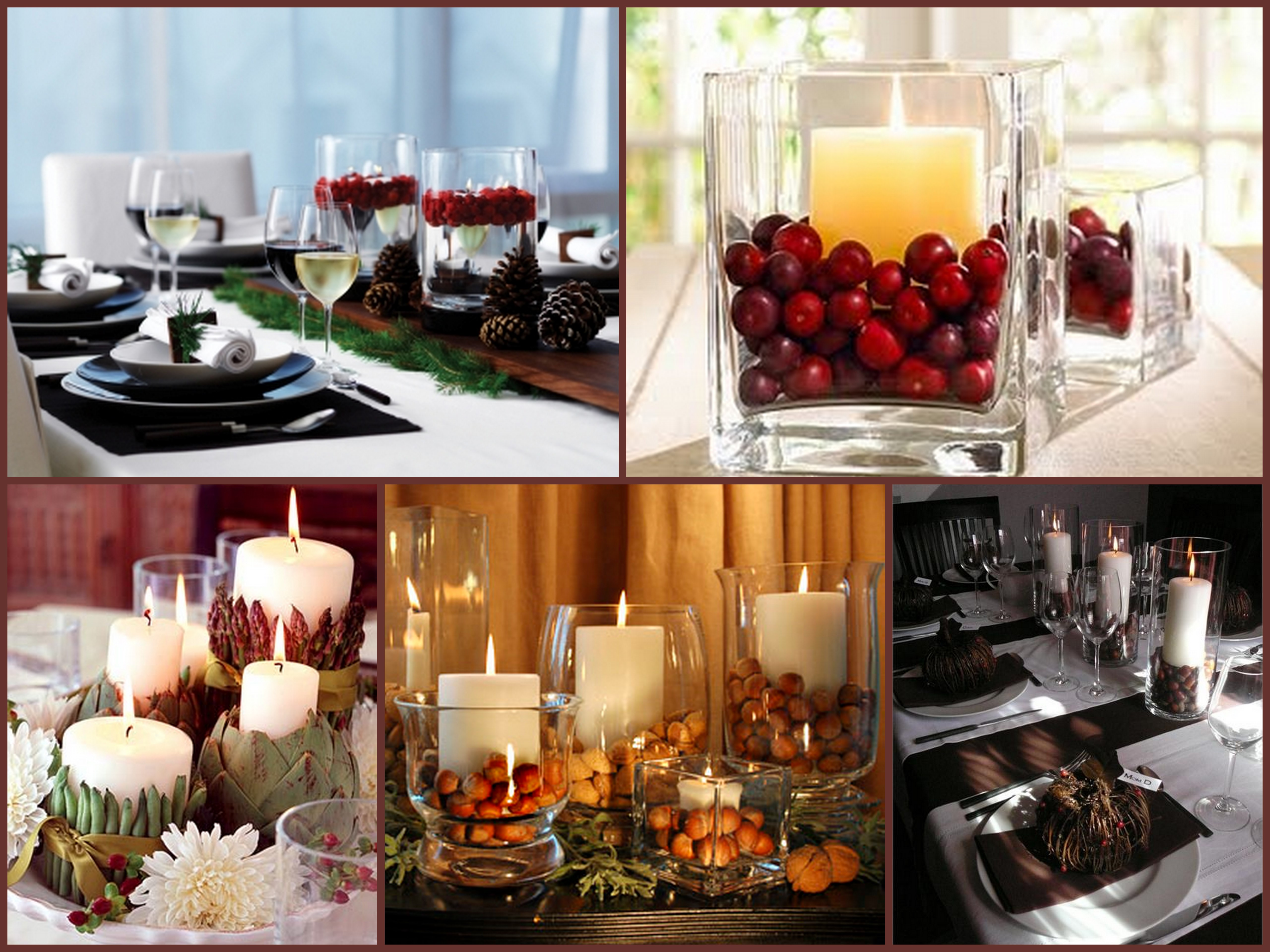 Last minute holiday centerpiece a s d interiors blog Simple thanksgiving table decorations
