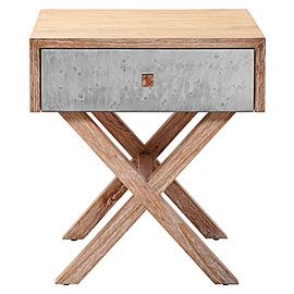 Metal And Wood Nighstand, Modern Nightstand