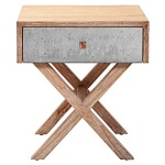 metal and wood nighstand, modern nightstand