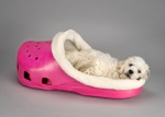 This dog bed was made for the croc obsessed pet lover.