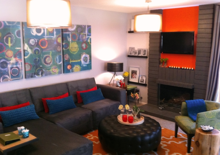 Snap Shot of HGTV Design Wars family room design by Shirry Dolgin