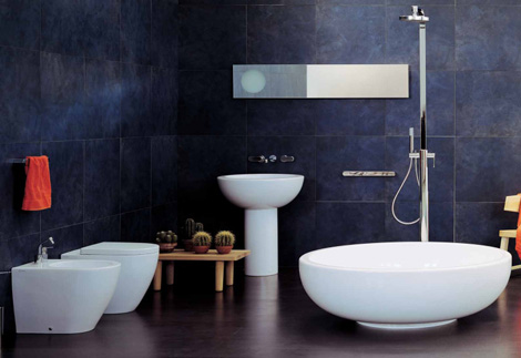 Check out our pick for the color of the month a s d for Modern bathroom design blog