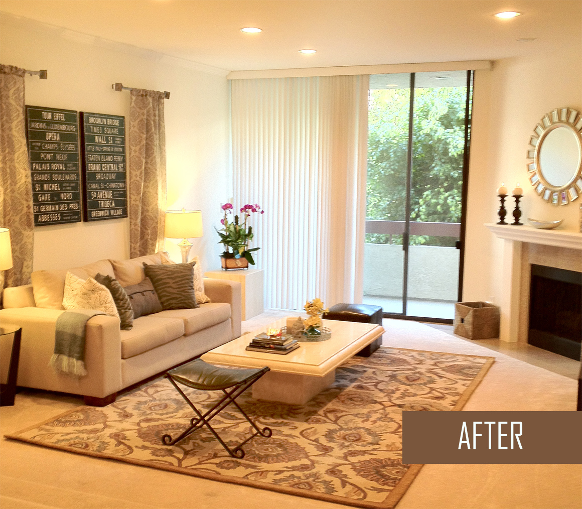 Accessory spruce up before and after a s d for Can you put an area rug on carpet