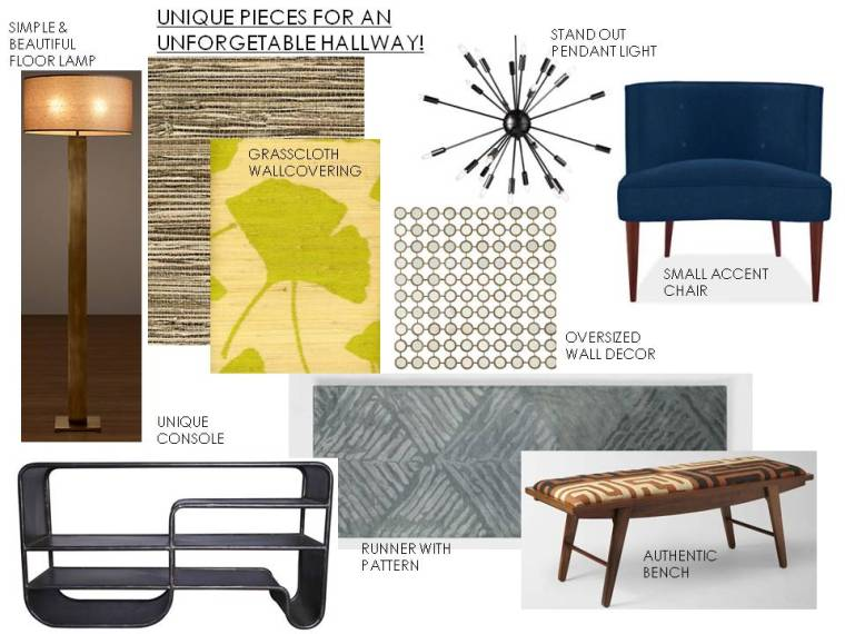 A.S.D. Interiors hallway design picks!